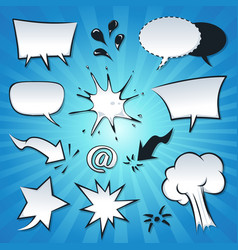 speech bubbles explosion and splashes set vector image