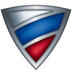 steel shield with flag russia vector image