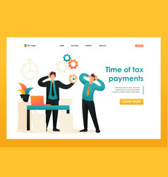 Stressful situation time of tax payments flat 2d vector