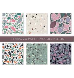Terrazzo pattern veneziano composite texture vector