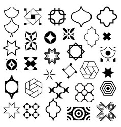 typical abstract symbols in ornamental arabic vector image