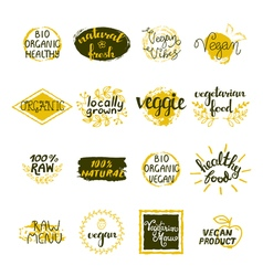 Vegan Labels Set vector image