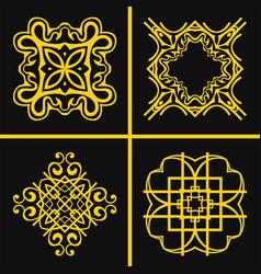 vintage logos set vector image