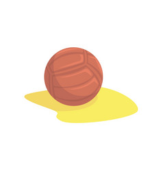 volleyball in the sand cartoon vector image