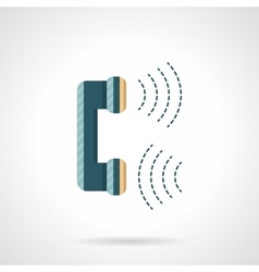 Flat phone handset icon vector image