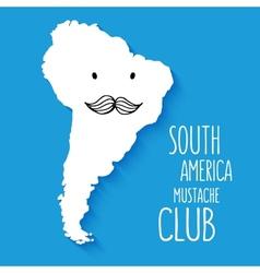 Fun mustache club cartoon South America hand drawn vector image