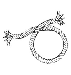 monochrome contour hand drawing of nautical break vector image vector image