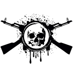 skull akm blood vector image vector image