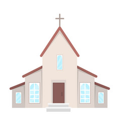 A church with a cross on the roof easter single vector
