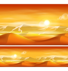 Deserts and sandstorms vector image