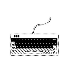 keyboard simple sign black dotted icon on vector image