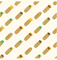 set of color tortilla food seamless pattern eps10 vector image