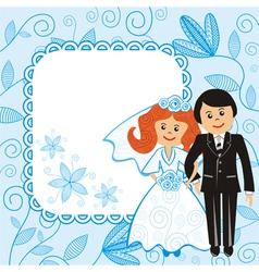 Wedding floral pattern background vector image
