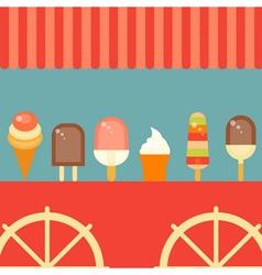 ice cream poster vector image
