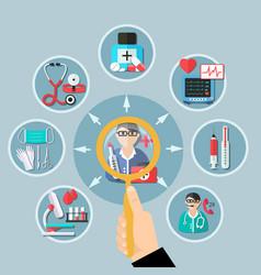 medicine flat design vector image