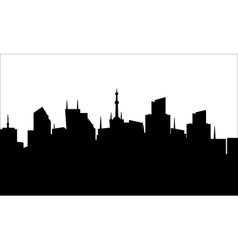 silhouette of the city center vector image vector image