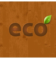 Wood Background With Leaves vector image