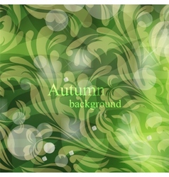 Abstract cute autumnal background vector image