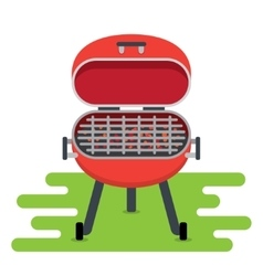BBQ Grill icons vector image