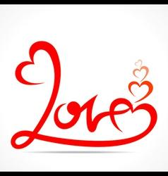 creative typography of love design vector image