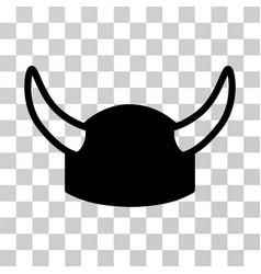 horned helmet icon vector image vector image