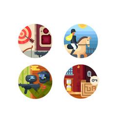leisure icon set vector image vector image