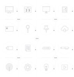 office icon set 4 design line icons style vector image vector image