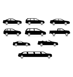Silhouettes of different body car types vector image