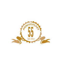 55 years ribbon anniversary vector image