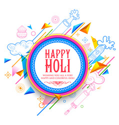 abstract happy holi background for festival o vector image