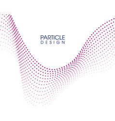 Abstract wave particle design vector