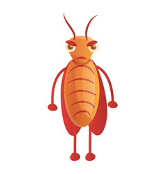 Angry cockroach icon cartoon style vector