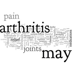 Arthritis joint pain without cure vector