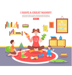 babysitter concept vector image