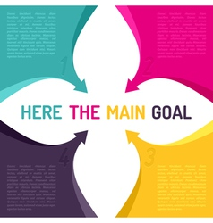 Background with arrows and place for main goal vector image vector image