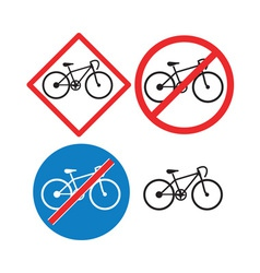 Bicycle Road Sign Symbol vector image