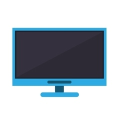 blue computer technology work device vector image