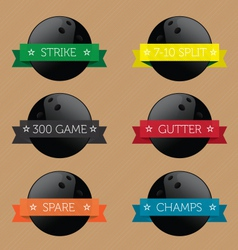 Bowling Ball Banners vector