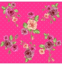 Bright pink floral pattern vector