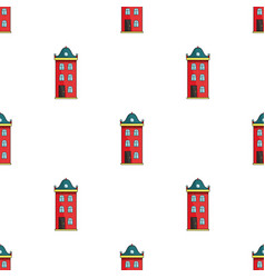 Building icon in cartoon style isolated on white vector