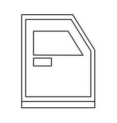 Bunker truck door icon vector
