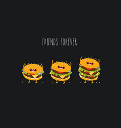 burgers friends vector image