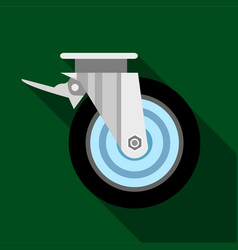 Cart wheel icon flat style vector