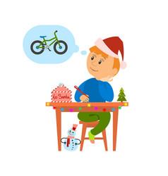 Christmas holidays preparation letter to santa vector