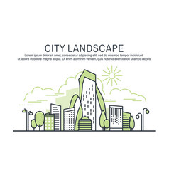 city landscape template with text vector image