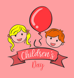 collection style background childrens day vector image