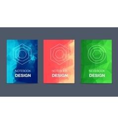Colorful brochure title sheet set vector image