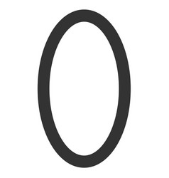 Contour ellipse flat icon vector