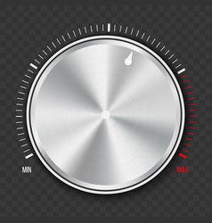 creative of dial knob level vector image