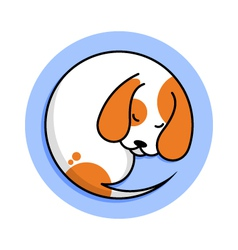 Cute sleeping dog vector